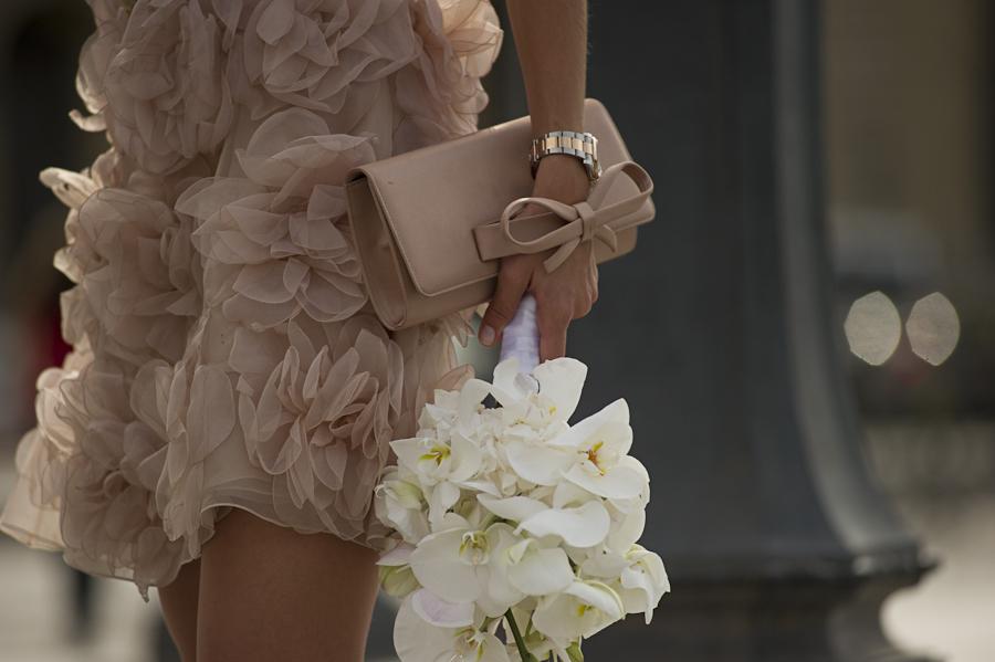 A valentino inspired wedding in paris weddinglight for Valentino short wedding dress