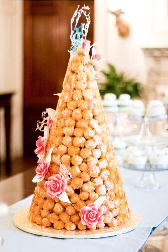 croquembouche wedding cake via google
