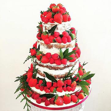 Paris Naked Wedding Cake