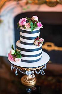 Paris Black White Wedding Cake